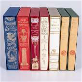 A Collection of Seven Folio Society Books Pertaining to