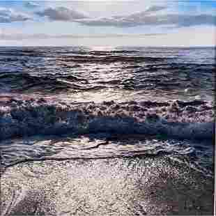 Alfredo Navarro (b. 1965) Evening Seascape, Oil on