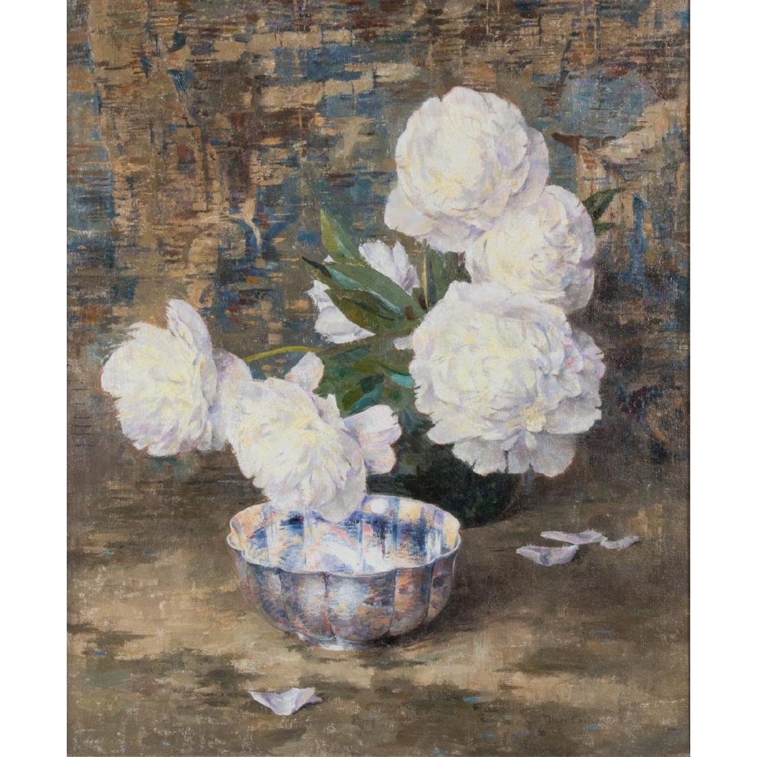 Dines Carlsen (1901-1966) Still Life with Peonies, Oil