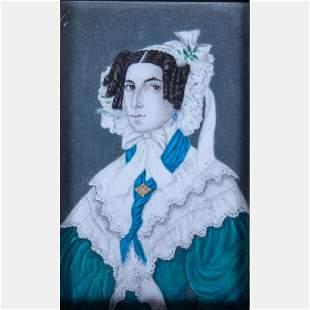 Artist Unknown 19th Century Portrait of a Lady