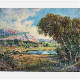 Anton Stockmann 18681940 Landscape Oil on canvas