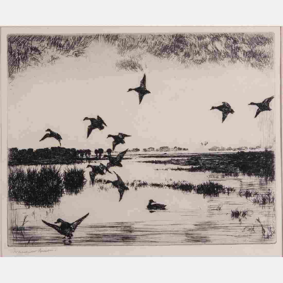 Frank Weston Benson (1862-1951) Evening Flight, 1927,