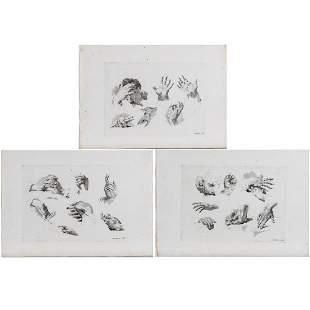 Marco Pitteri 17021786 Three Studies of Hands