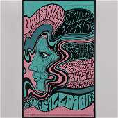 A Vintage Lithographic Fillmore East Concert Poster