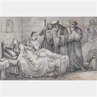 Artist Unknown 19th Century Death Sentence Being Read