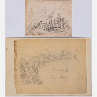 Joseph van der Haeghen 18221896 Two Military Battle