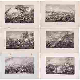 Achille Louis Martinet 18061877 Six Battle Scenes