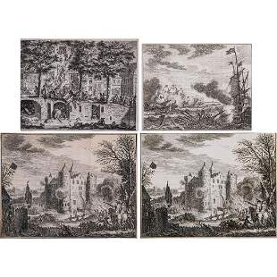 A Group of Four Engravings by Simon Fokke 17121784