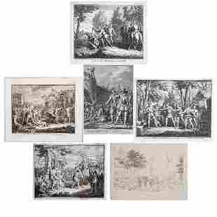 A Group of Six Etchings and Engravings by Various