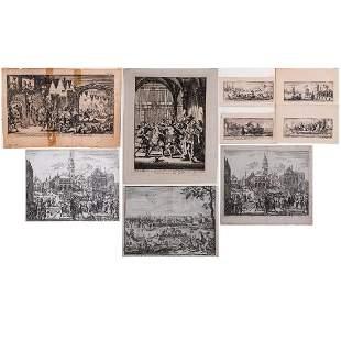 A Group of Nine Copper Engravings by Jan Luyken