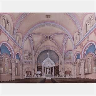 William C Jansen 18711933 Interior of St John