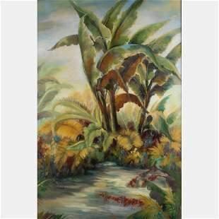 Alexa Kelemen 20th Century Green Paradis Acrylic on