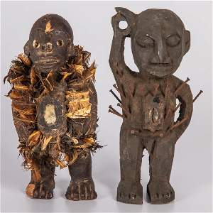 Two Democratic Republic of Congo Carved Wood Kongo