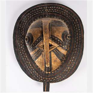 A Bobo Style Carved and Painted Wood Sun Mask 20th