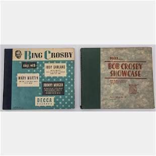 Two Bing Crosby and Bob Crosby Decca Records 10 in