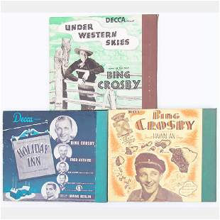 A Group of Three Bing Crosby Decca Records 10 in