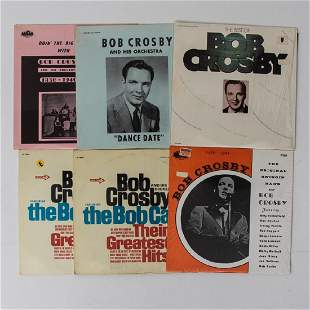A Group of Six Bob Crosby 12 in Vinyl LPs from Various
