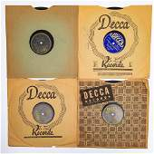 A Group of Four Louis Armstrong Decca Records 10 in
