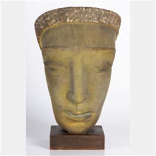 Edris Eckhardt (1905-1998) Head of a Woman Painted