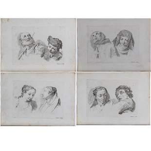 Francesco Bartolozzi 17271815 Four Studies of