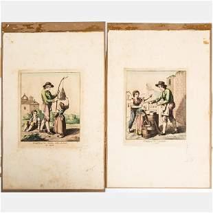 Bartolomeo Pinelli 17811835 Venditore di Nochie