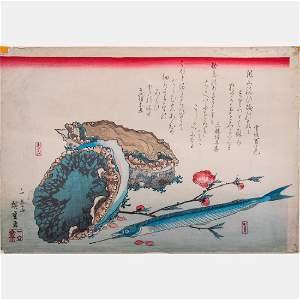 Utagawa Hiroshige I (Japanese, 1797-1858) Abalone,