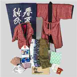 A Miscellaneous Collection of Asian Textiles Linens
