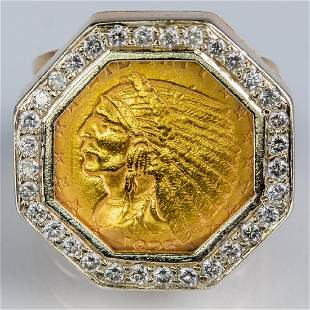 An 18kt Yellow Gold Diamond and 1925 250 American