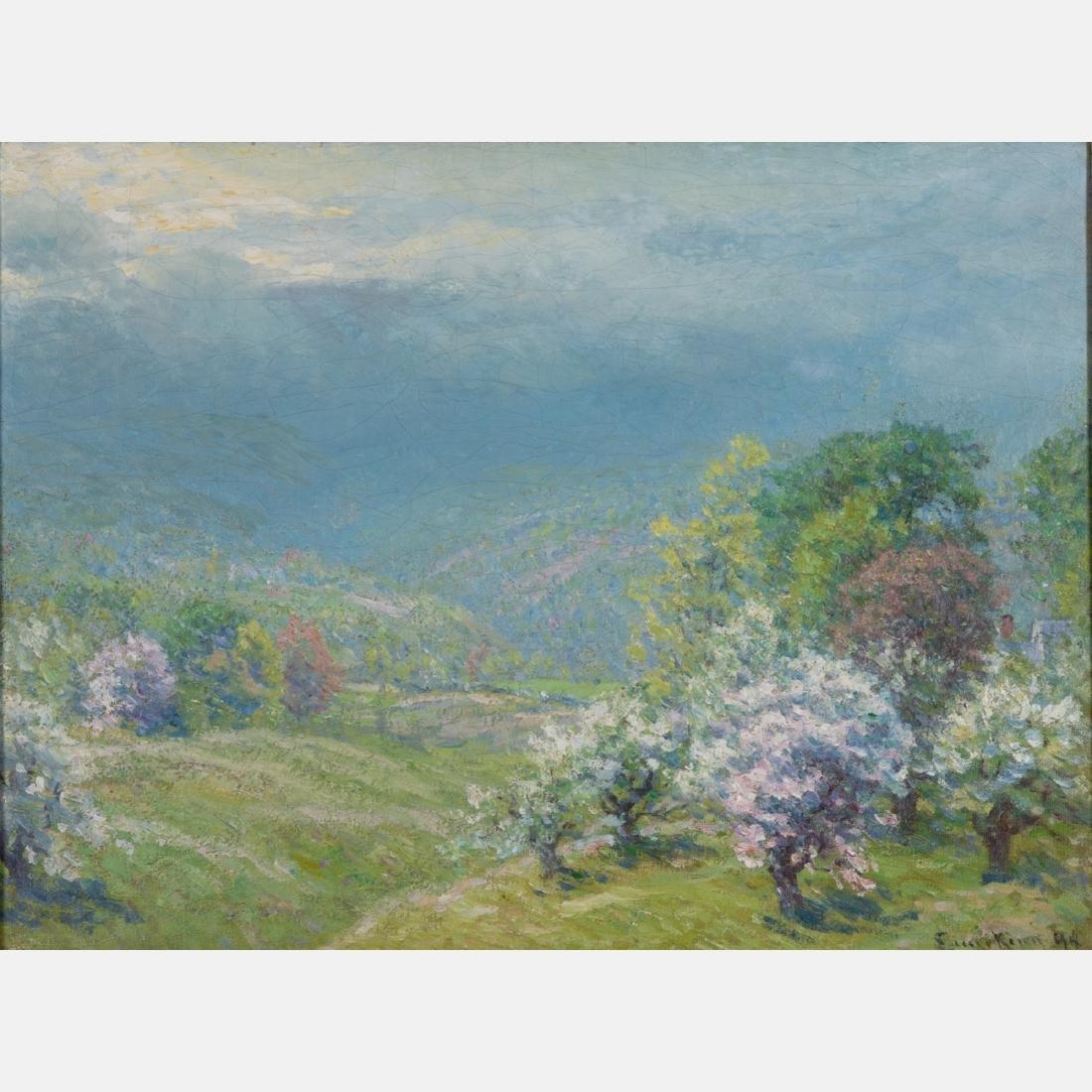John Joseph Enneking (American, 1841-1916) Blossoming