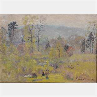 John Joseph Enneking (American, 1841-1916) Spring Haze,