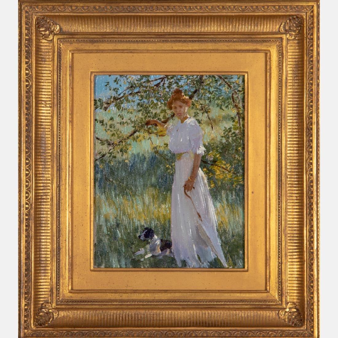 Edward Dufner (American, 1871-1957) Sunlit Portrait, - 2