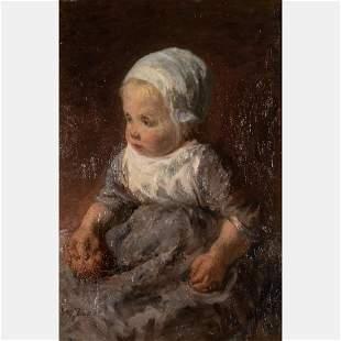 Josef Israels (Dutch, 1824-1911) Portrait of Dutch
