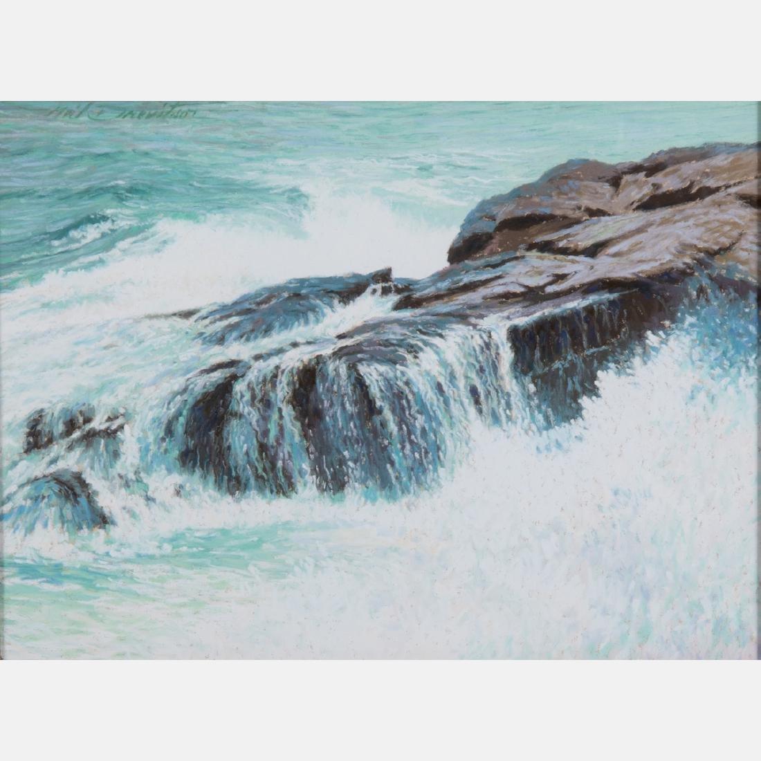 Neil Drevitson (American, b. 1944) Sea Ledge, Pastel,