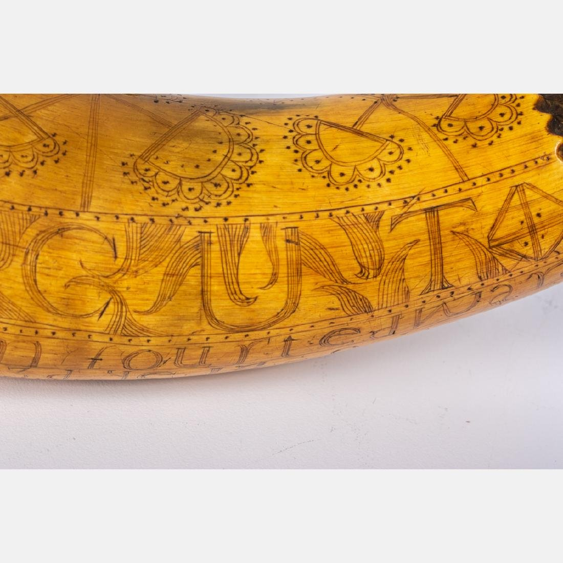 An Engraved French and Indian War Period Powder Horn, - 10