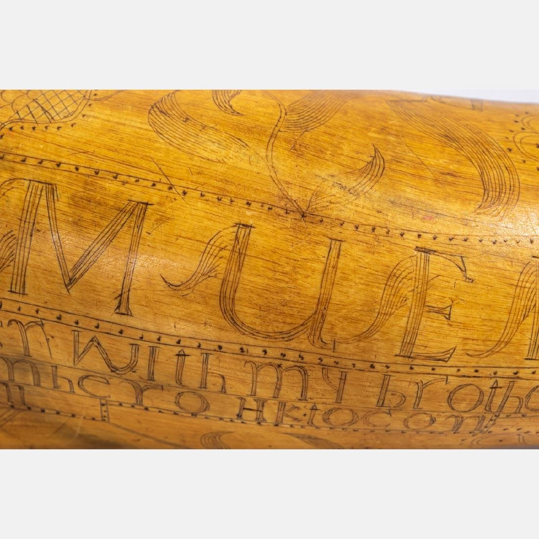 An Engraved French and Indian War Period Powder Horn, - 7