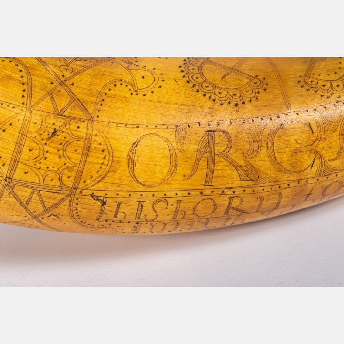 An Engraved French and Indian War Period Powder Horn, - 9