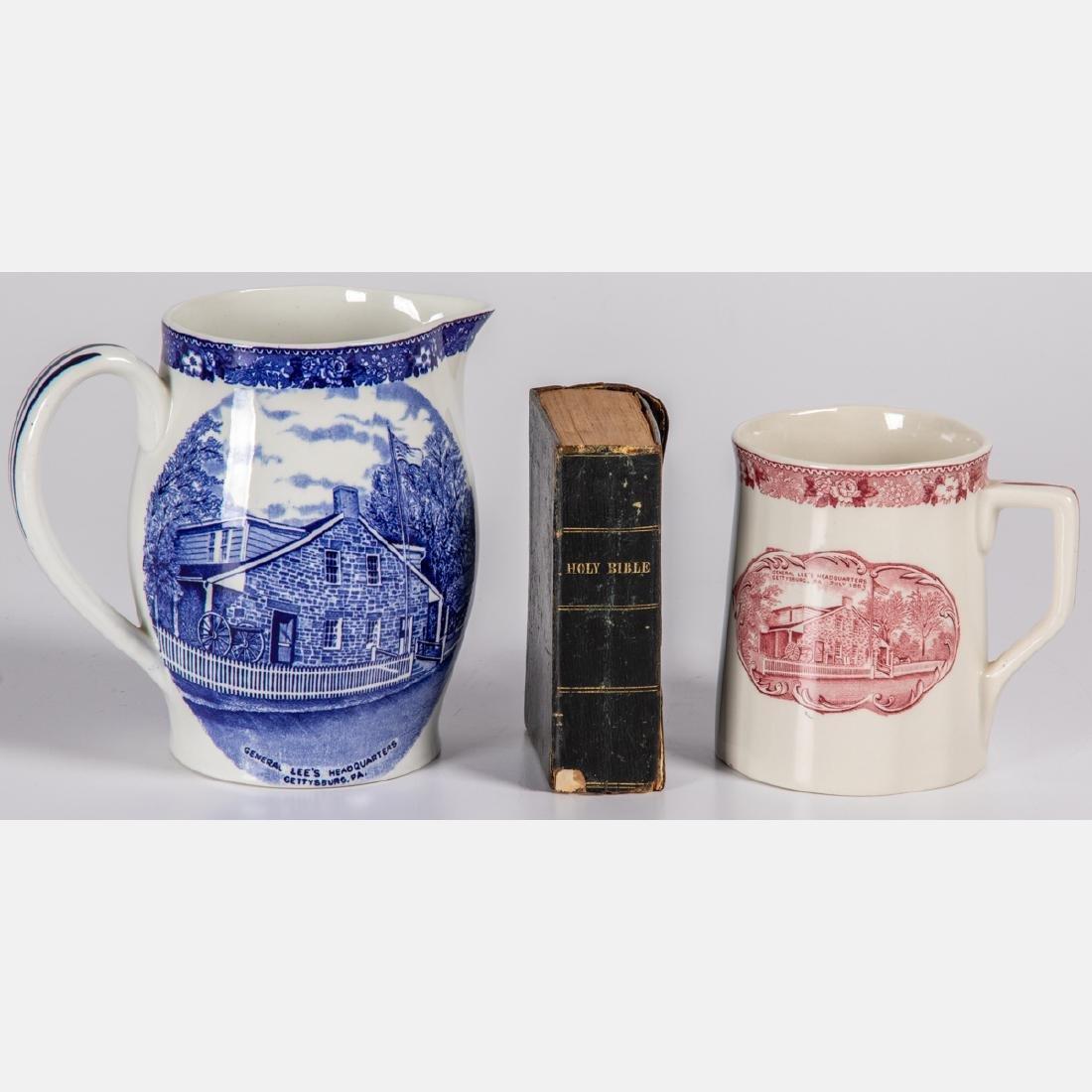 Two Staffordshire Pottery Civil War Themed Mug and