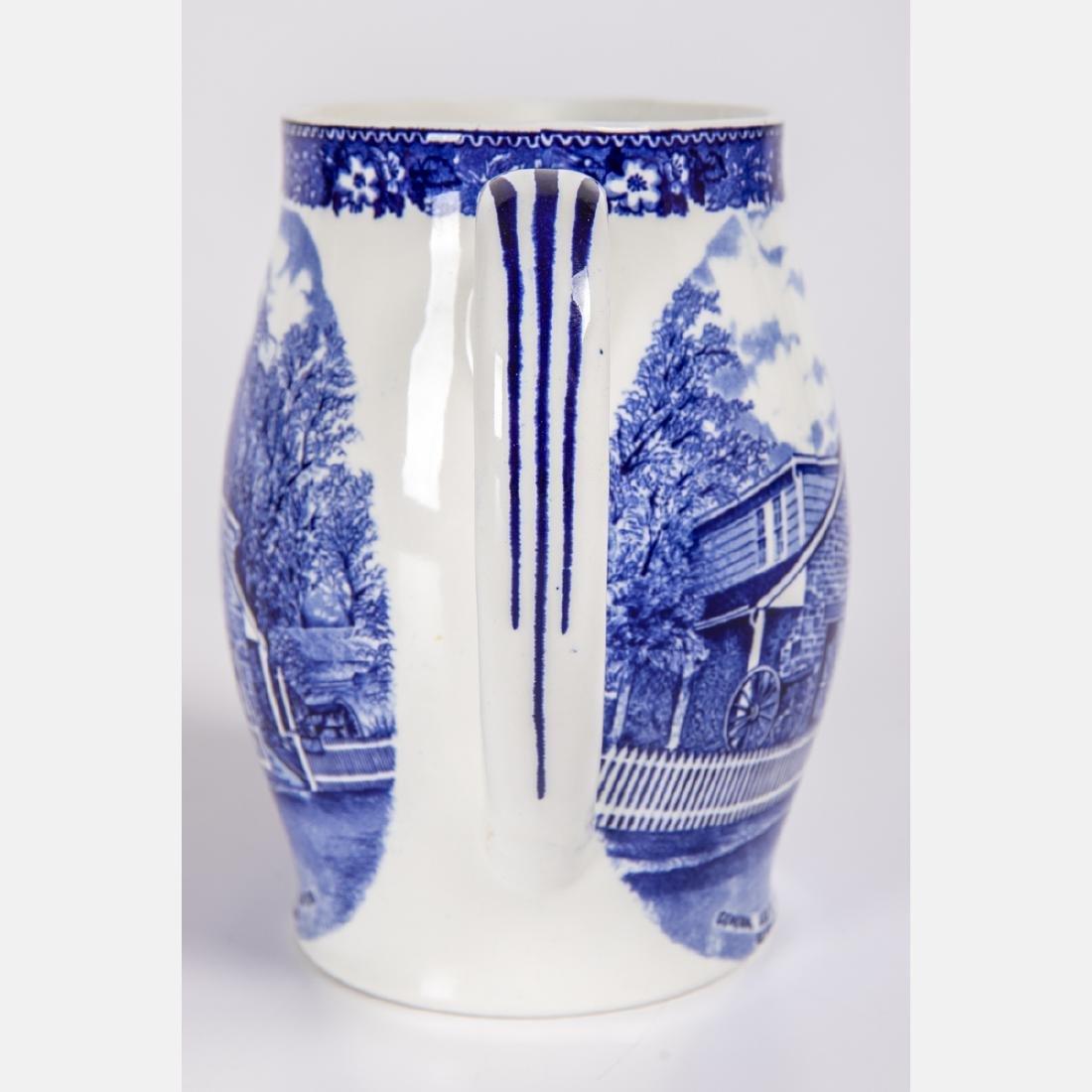 Two Staffordshire Pottery Civil War Themed Mug and - 2