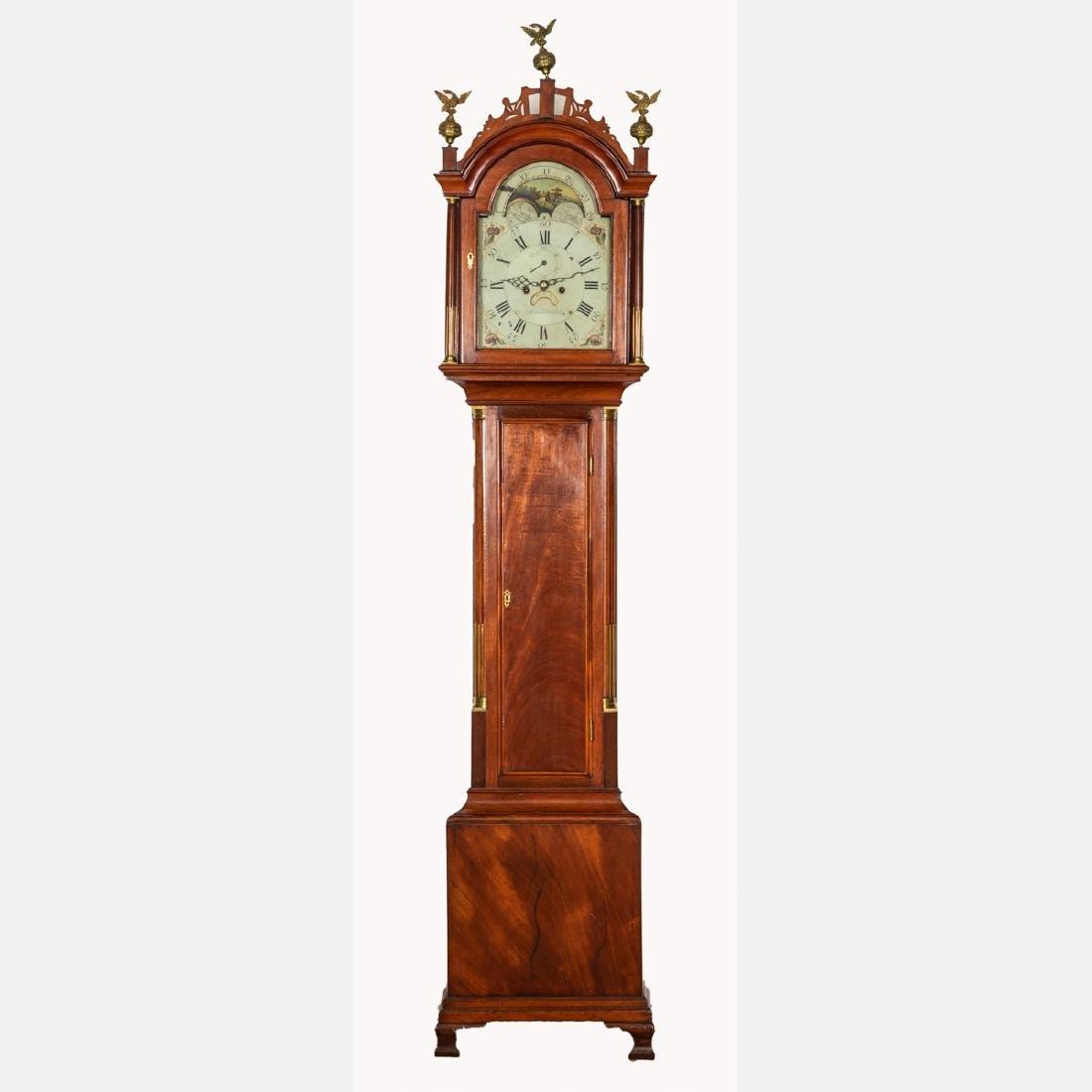 An American Mahogany Tall Case Clock by Simon Willard,