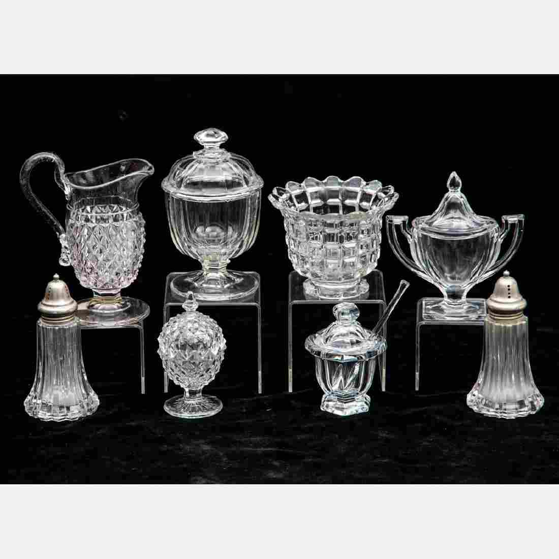 A Miscellaneous Collection of Clear Pressed Glass