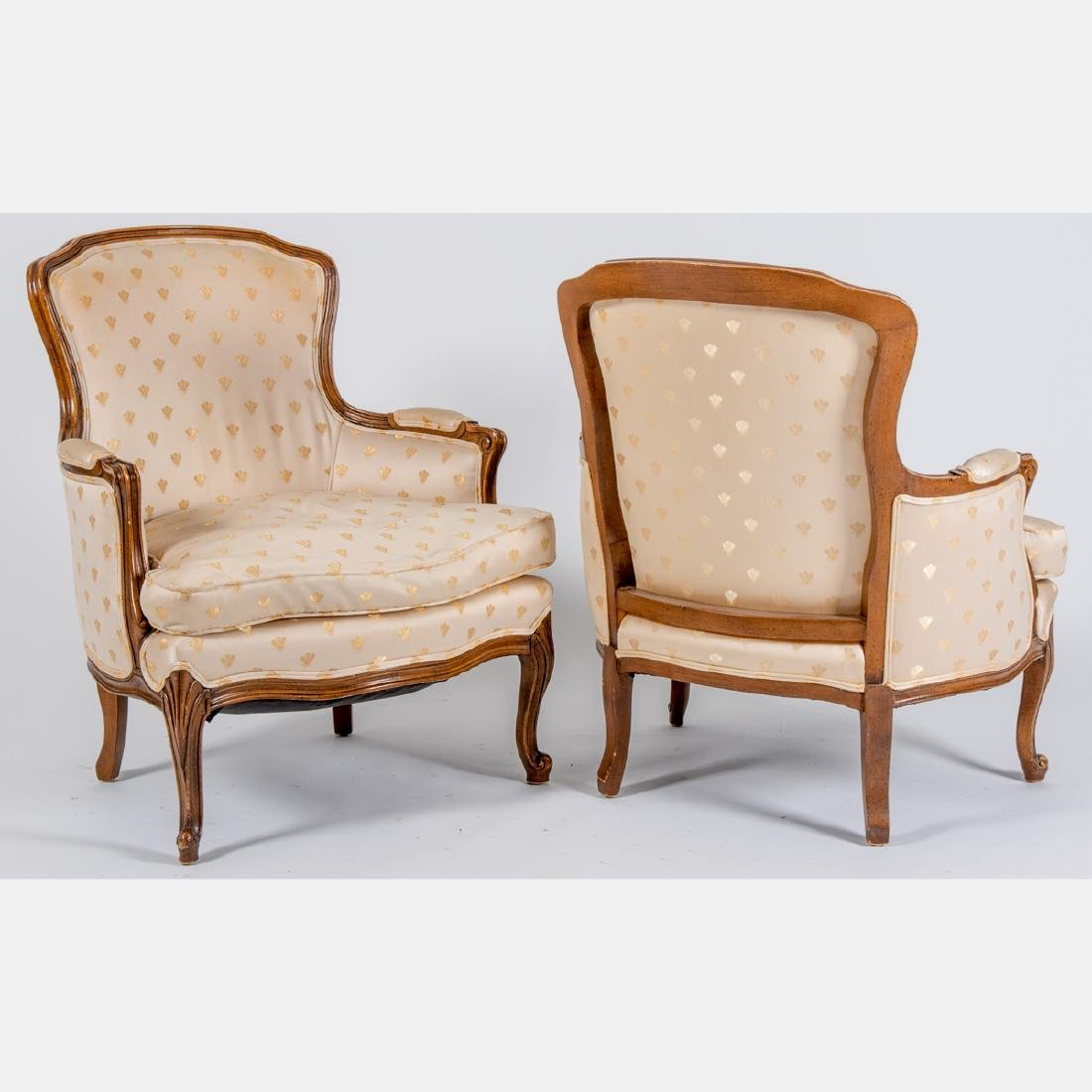 A Pair of Louis XV Style Bergeres by Meyer, Gunther and - 2