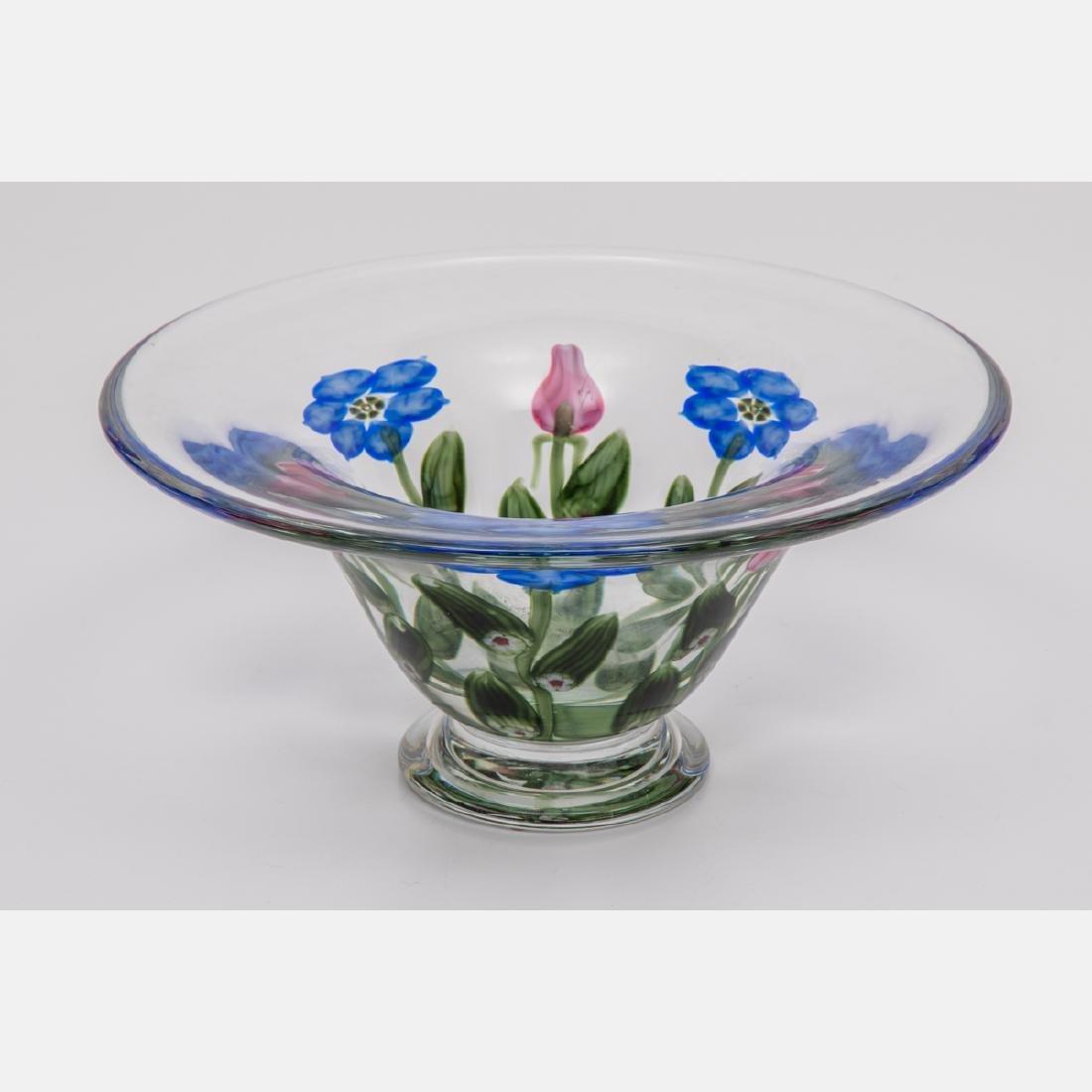 An Art Glass Center Bowl by Vandermark Merrit Glass