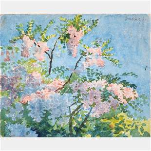 János Vaszary (Hungarian, 1867-1939) Floral Scene,