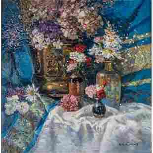 T.M. Nicholas (American, b. 1963) Still Life with Blue