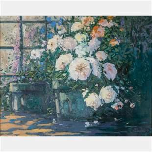 Franklin E. Morris (American, 1938-2009) Floral Still