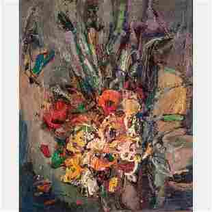 Leonard Brooks (Canadian, 1911-1989) Flores, 1961, Oil