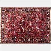 An Antique Persian Heriz Wool Rug ca 1930s