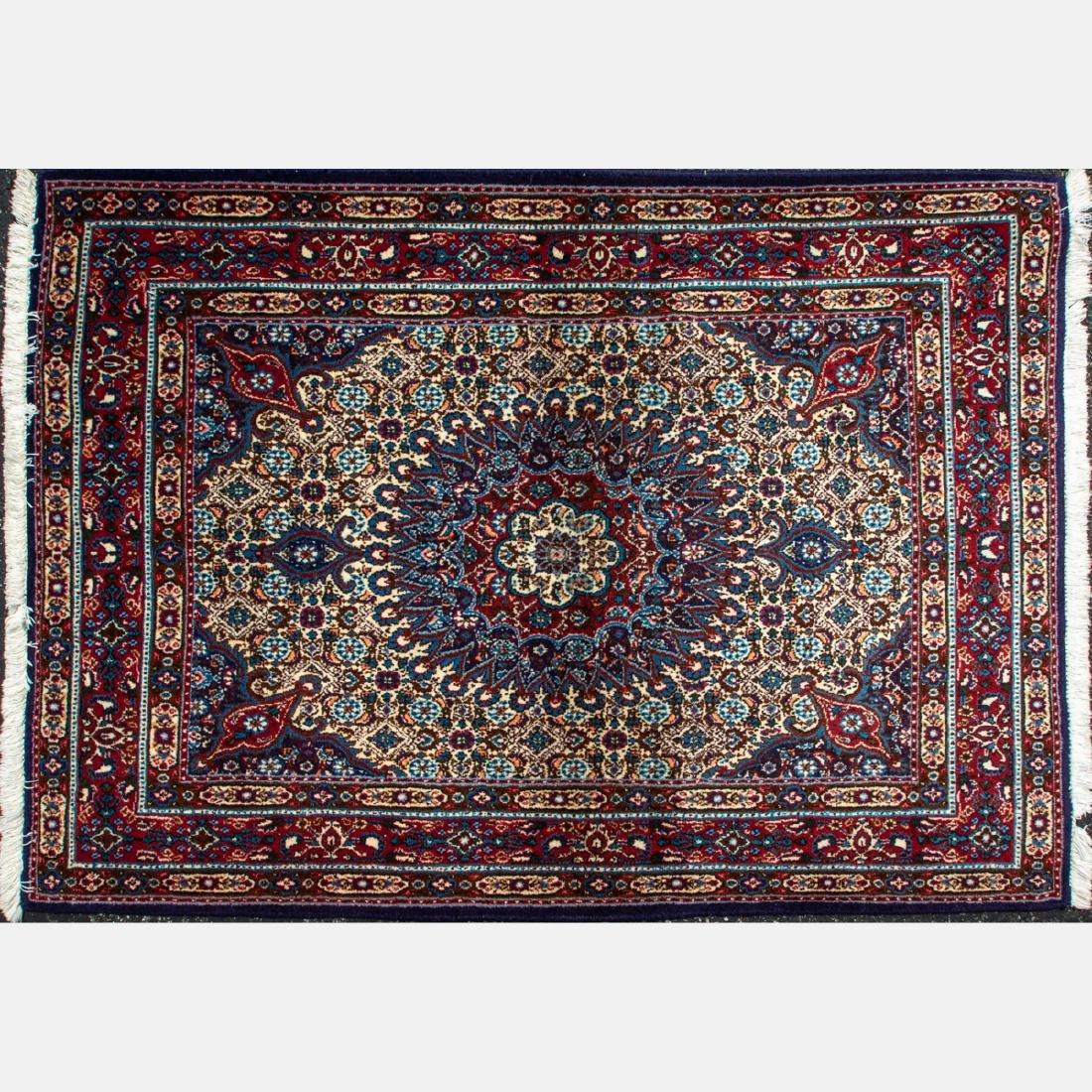 A Fine Persian Kashan Wool Rug, 20th Century.