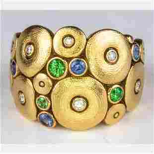 An Alex Sepkus 18kt. Yellow Gold 'Orchard' Dome Ring,