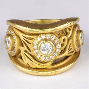 A Kieselstein-Cord 18kt. Yellow Gold and Diamond Ring,